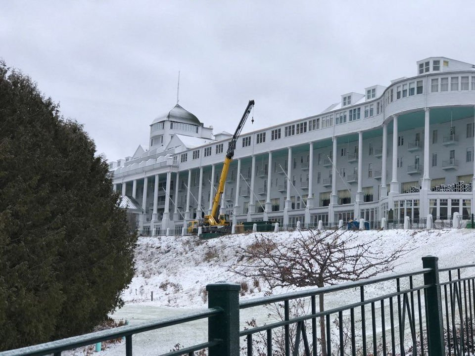 Grand Hotel's original 1887 roofline is being restored